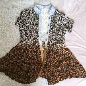 BKE Cute floral ombre cutout mini dress